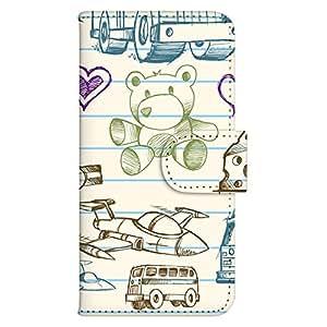 智能手机壳 手册式 对应全部机型 印刷手册 wn-344top 套 手册 艺术插画 UV印刷 壳WN-PR374011-M AQUOS PHONE EX SH-02F 图案D