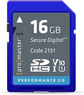 Promamster 16GB 性能 2.0 SDHC 存储卡 UHS-1 V10 (2131)