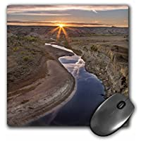 3D 玫瑰哑光鼠标垫 - 20.32 x 20.32 cm Little Missouri River In Theodore Roosevelt Np North Dakota Usa 8 x 8""