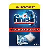 Finish 洗碗机养护清洁片 可去除洗碗机内的油污和污垢,1年用量装(12片)