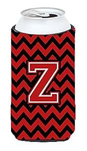 Caroline's Treasures CJ1047-ZMUK Letter Z Chevron Black and Red Michelob Ultra Koozie for slim Cans, Multicolor