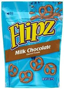 Flipz 巧克力色椒盐卷饼 5-Ounce Packages (Pack of 12)