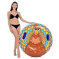 Hill and Amber 火鸡 Super Big 47 英寸重型充气雪管 防冻 适合儿童和成人 冬季运动 有趣 赠送和圣诞节的*礼物