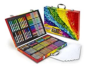 Crayola 绘儿乐 创意展现艺术珍藏礼盒(适用年龄:4-15岁)(版本随机发货)(64色蜡笔;20色短的彩色铅笔;40色可水洗记号笔;15张纸)