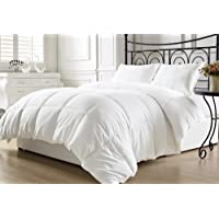 Chezmoi Collection Super Soft White Goose Down Alternative Comforter, Twin with Corner Tab