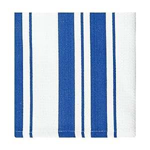 MU Kitchen Cotton Strip Dishcloth, Cobalt, Set of 2