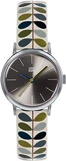 Orla Kiely 欧拉·凯利 中性成人模拟经典石英手表皮革表带 OK2245 灰色