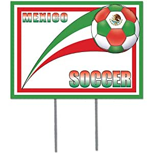 Beistle Plastic Yard Sign, 12-Inch by 16-Inch, Mexico