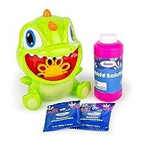 Boley Dino 泡泡机 – 电池供电儿童泡泡机 带*泡液液 – 自动泡泡机 – 儿童泡泡