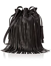 LOEFFLER RANDALL 女式 抽绳水桶包 INDUSTRY-NF 黑色 均码(亚马逊进口直采,美国品牌)