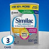 Similac 雅培 Pro-Advance Non-GMO 嬰兒配方奶粉 1段 0-12個月 3罐裝  1.02kg*3(含鐵, 添加2'-FL HMO)