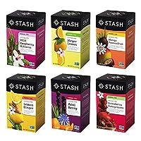STASH 茶 FRUITY 草本茶六口味多种花色,18?–?20支 TEA 铝箔袋(6个装)