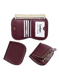befen 女式皮革 RFID blocking 钱包手机手拿包皮夹带可拆卸腕带/卡槽/身份证窗口