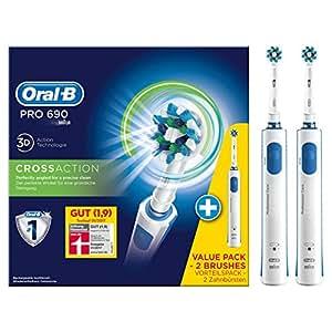 Oral-B 欧乐-B Pro 690 Cross Action 多角度深层清洁电动牙刷 2只装(德国品牌)