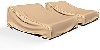 Budge P2A01TNNW2-2PK NeverWet Savanna 双庭院躺椅套(2 件装)防水,耐用,棕褐色