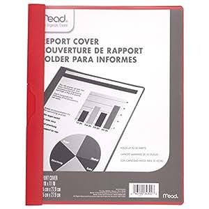 Mead 报告封面,展示罩,22.86 cm x 29.21 cm,正面透明/背面红色(73275) 03 红色