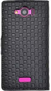 PLATA 市松 图案 格子 格子 支架 保护壳 小收纳袋ASHL24-62BK 3_AQUOS PHONE SERIE mini SHL24 黑色