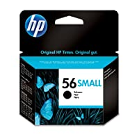 HP 惠普 56 小黑色原装墨盒 适用于喷墨打印机(黑色,热墨盒 HP 20 A 80 HR,5至40°C,15至35°C)