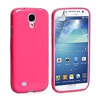 三星 SA-EA02-Z0 硬壳硅胶凝胶皮肤保护套适用于 Galaxy S4SA-EA02-Z042  后盖 Pink Gel
