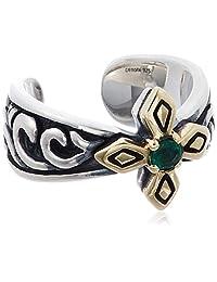 [cenote ] cenote 【银饰品】 交叉塑形银耳夹 玉石绿 15257000