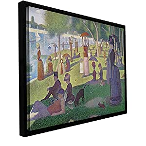 ArtWall Georges Seurat 'La Grande Jatte' Floater Framed Gallery Wrapped Canvas Art, 24 by 32-Inch