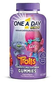 One A Day Trolls 儿童多种复合维生素软糖 180颗