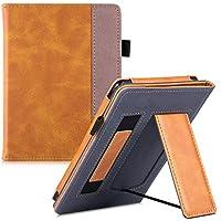 BOZHUORUI 全新 Kindle Paperwhite 保护套(* 10 代,2018 年发布,适合所有纸白色一代) - 便携式手持支架保护套,自动休眠/唤醒 棕色