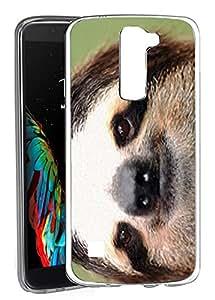 LG K10 - 透明塑料手机壳 Clear - Smiling-Sloth-Face