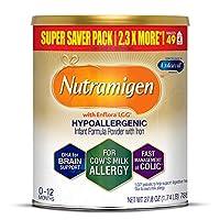 MeadJohnson 美赞臣 Enfamil 铂睿 Nutramigen 低致敏性婴幼儿奶粉,无乳糖,27.8盎司(788克)——ω3 DHA,LGG益生元,铁