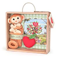 Apple Park 毛毯书和拨浪鼓礼品箱 Monkey