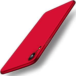 """超薄 iPhone Xs Max 手机壳/iPhone XR 手机壳,硬塑料全防护防刮皮肤超薄轻质手机壳 Xs Max 6.5"""" 红色"""