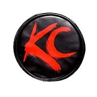 """KC HiLiTES 5100 6"""" 圆形黑色乙烯基灯罩 KC 标志 黑色 5110"""