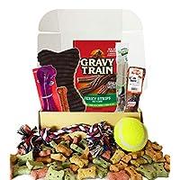 狗狗礼品盒篮子适合*喜欢的狗狗毛婴儿,非常适合狗狗爱好者,圣诞节,生日,新狗毛茸茸的宠物朋友,Prime 零食玩具 6 ounces