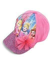 Disney 迪士尼女童公主棒球帽,粉色,适合年龄4–7岁