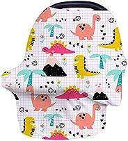 哺乳罩汽车座椅遮篷,RITY 汽车座椅套适用于婴儿妈妈哺乳围巾婴儿多功能婴儿推车和购物车和喂食高脚椅 - 大号适合女孩男孩 Dinosaur Paradise