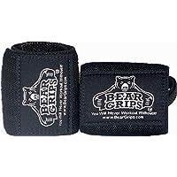Bear Grips 灰色系列,白色系列腕带,*腕部支撑,锻炼时的腕部(颜色:灰色、白色和黑色,尺寸:30.48cm,60.96 cm,每包售两条腕带)