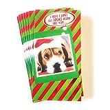 Christmas House 圣诞节现金&礼品卡袋 - 一套8个,带金属/闪光效果(Dog)