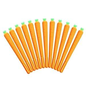 WIN-MARKET 可爱卡通胡萝卜滚珠笔趣味学校文具办公室用品礼品 均码 12 件