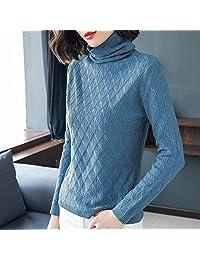 欧米澳 2018秋冬新款韩版时尚堆堆领羊绒羊毛衫女针织毛衣