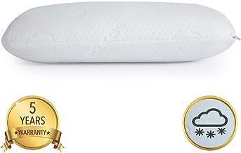 Modvel 奢華雙面酷凝膠和*泡沫枕頭矯正頸部和背部支撐,輕松*體驗   中等毛絨感覺,3 個可洗枕套和低*墊。 (MV-122-N) 有線接口/性別適配器