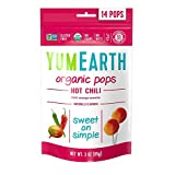 YumEarth Organic Hot Chili Lollipops, 14 Lollipops (Pack of 6)