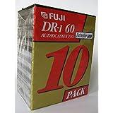 Fuji DR-I Audio Cassettes 超薄外壳 10 件装