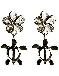 夏威夷珠宝 比夏威夷直接进口 银925・氧化锆・耳环