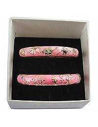 UJOY 时尚意式珠宝手镯手链花卉珐琅手镯套装女士礼品盒 55A-55B 55A81-A116-6