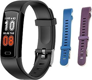 ieasky 儿童智能手表,计步器,带心率监测器,IP68防水智能健身带计步器,卡路里计数器,计步器手表,适合儿童女士和男士