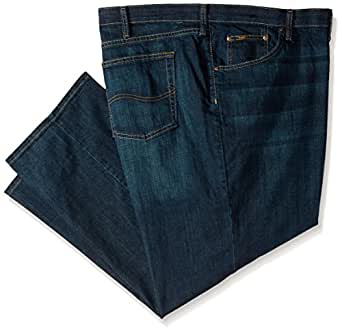 Lee 男式 Big & Tall 优质精选定制宽松直筒牛仔裤 Bowery 56W x 32L