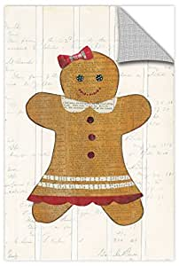 "Tremont Hill Courtney Prahl ""Gingerbread Girl II""可移除墙壁艺术壁画 棕色 24X36"" 2pra035a2436p"