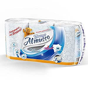 Almusso 安木舒 欧洲原装进口 吸油纸 吸水纸 厨房用纸 3层3卷/提155mm*222mm/张 彩色印花 厨房清洁Bravo-蓝色