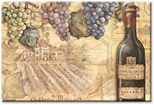 CounterArt Vineyards 8 by 12-Inch Glass Cutting Board