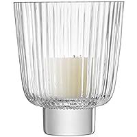LSA International Pleat Storm Lantern H21.5cm 透明 19 x 19 x 22.4 cm G1398-21-301